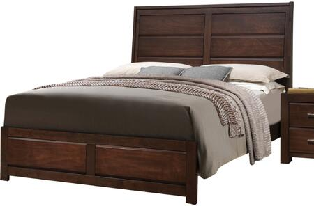 Acme Furniture Oberreit 25787EK Bed Brown, Angled View