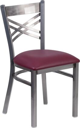 Flash Furniture Hercules XU6FOBCLRBURVGG Dining Room Chair Red, 1