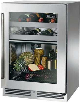 Perlick Signature HP24CS33RC Compact Refrigerator Stainless Steel, Main Image