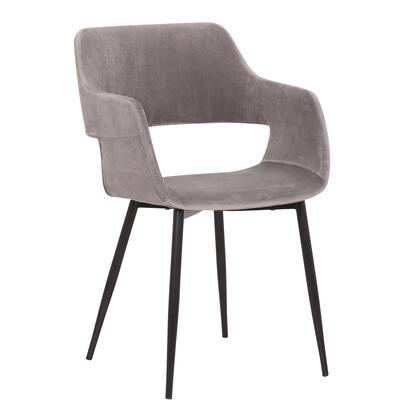 Armen Living Ariana LCARCHBLGR Dining Room Chair Gray, LCARCHBLGR side