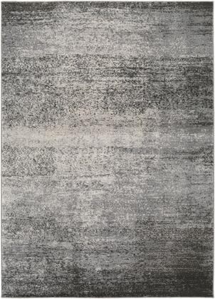 Amadeo ADO-1008 5'3″ x 7'3″ Rectangle Modern Rugs in Light Gray  Medium Gray  Dark Brown