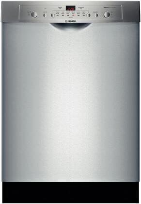 Bosch 100 Series SHE3AR75UC Built-In Dishwasher Stainless Steel, Front View