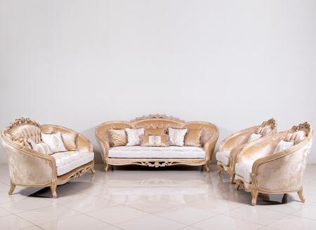 European Furniture Valentina 45001SLC Living Room Set Beige, Main Image