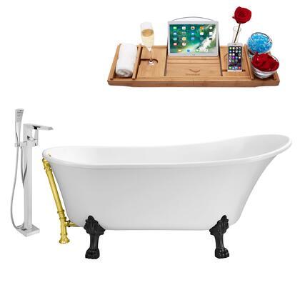 Streamline NH340BLGLD100 Bath Tub, NH340BL GLD 100 1T