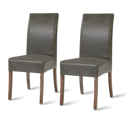 108239B-V04 Valencia Bonded Leather Chair Set of 2  in Vintage