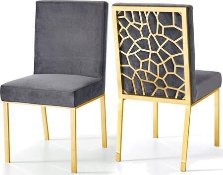 Meridian Opal 737GreyC Dining Room Chair Gray, Main Image