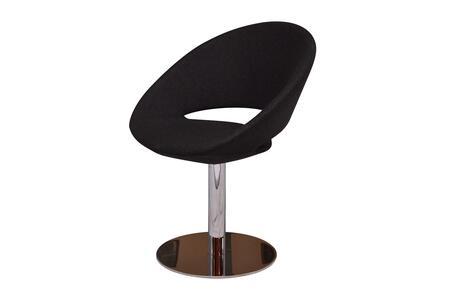 Delancey 100-MCD-SWR-BLW Swivel Chair in Black