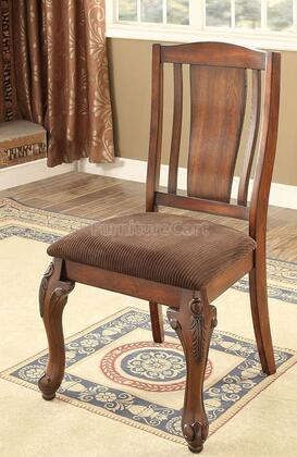 Furniture of America Johannesburg I CM3873SC2PK Dining Room Chair Brown, Main Image