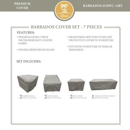 BARBADOS-07dWC-GRY Protective Cover Set  for BARBADOS-07d in
