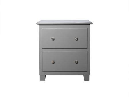 Atlantic Furniture Atlantic AC682109 Nightstand Gray, AC682109