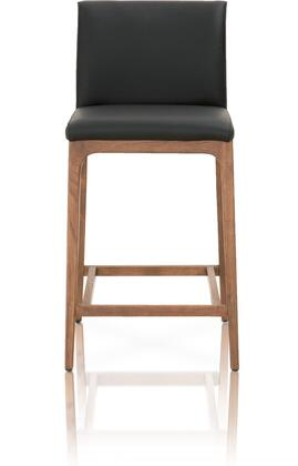Orchard Collection 5144CS.SAB/WAL Alex Counter Height Stool with Footrest Support  Contemporary Style  Walnut Finished Solid Oak Wood Tapered Legs