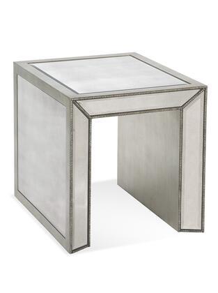 Bassett Mirror Murano T2624200EC End Table Silver, T2624 200EC