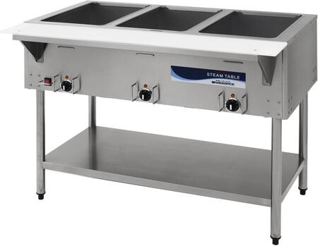 Radiance  RST3P240 Commercial Electric Steam Table Stainless Steel, RST3P240 Angled View