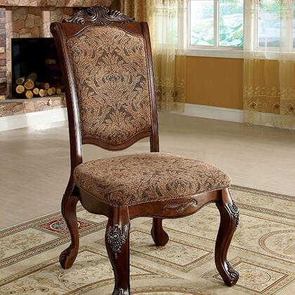Furniture of America Cromwell CM3103SC2PK Dining Room Chair Brown, Main Image