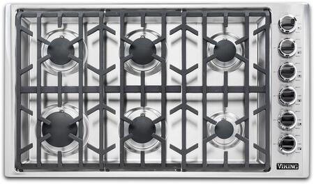 Viking 5 Series VGSU53616BSS Gas Cooktop Stainless Steel, Main Image Top view