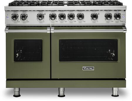 Viking 5 Series VGR5488BCYLP Freestanding Gas Range Green, VGR5488BCYLP Gas Range