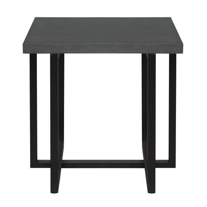 Armen Living Logan LCLGLAGR End Table Black, LCLGLAGR