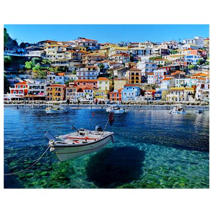 Tempered Glass Series 3120017 Mediterranean 50″ x 40″ Photography Wall Art in