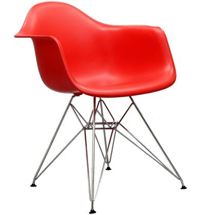 Modway Paris EEI181RED Dining Room Chair Red, 1