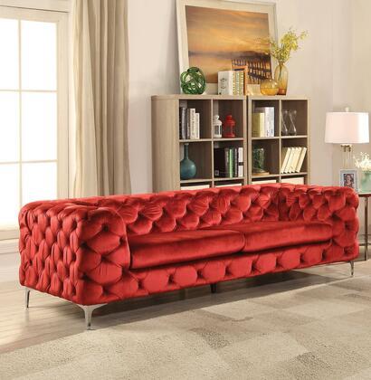 Acme Furniture Adam 52795 Stationary Sofa Red, 1