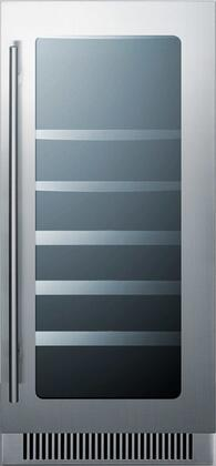 Summit  CL151WBVCSS Wine Cooler 26-50 Bottles Stainless Steel, Main Image