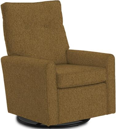 Phylicia Collection 4007-21959 Recliner with 360-Degrees Swivel Glider Metal Base  Removable Back  High Backrest  Zipper Access and Fabric Upholstery