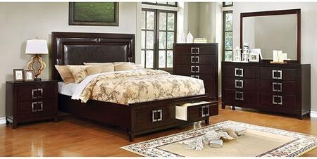 Furniture of America Balfour CM7385KSBDMCN Bedroom Set Brown, Main Image