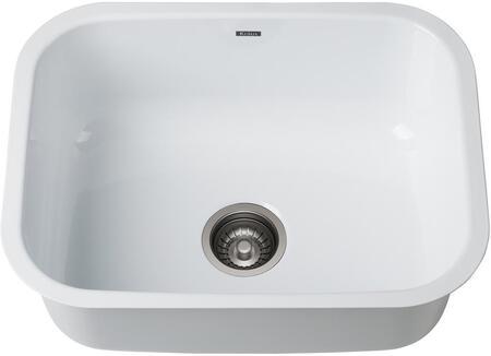 KEU12WHITE 24″ Pintura Undermount Enamel Steel Single Bowl