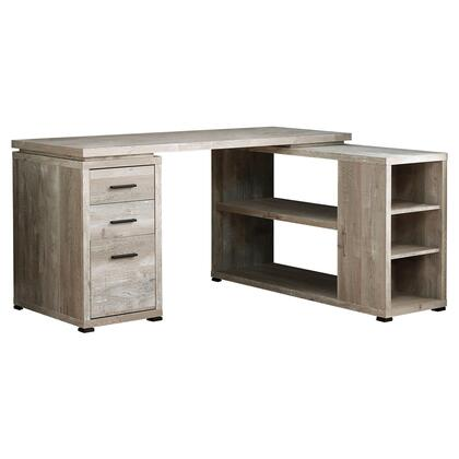 I 7422 Computer Desk – Taupe Reclaimed Wood L/R Facing