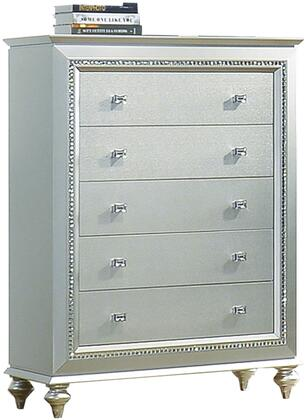 Acme Furniture Kaitlyn 27236 Chest of Drawer Gray, Angled View