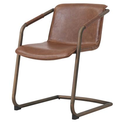 1060007-215 Indy PU Side Chair  Antique Cigar Brown  in Antique Cigar