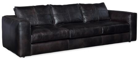 Hooker Furniture SS Series SS60003097 Stationary Sofa Black, Silo Image