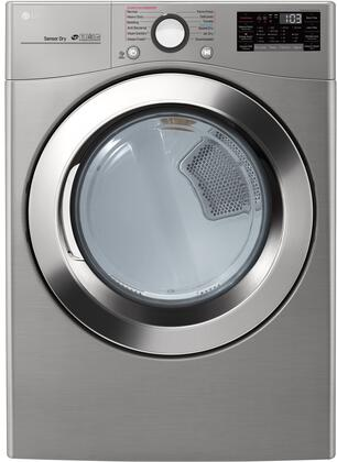 LG  DLEX3700V Electric Dryer Silver, Main Image