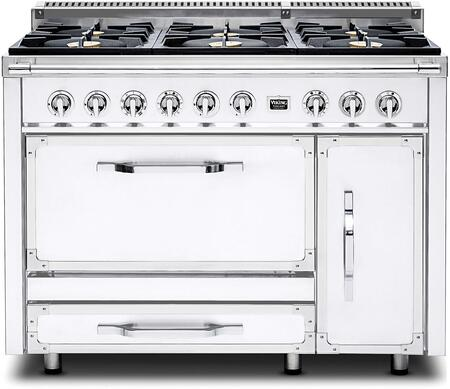 Viking Tuscany TVDR4806BAW Freestanding Dual Fuel Range White, Main Image