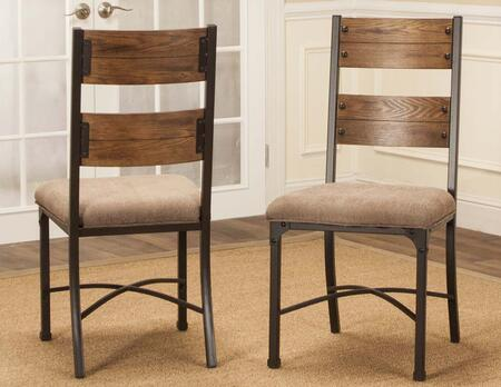 Sunset Trading Rustic Elm Industrial CRW3075012 Dining Room Chair Brown, CR W3075 01 2