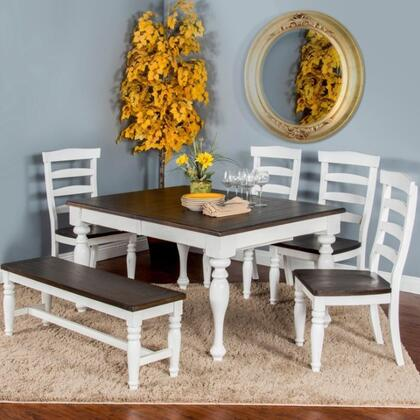 Sunny Designs Bourbon County K1015FC4 Dining Room Set Multi Colored, K1015FC4 Main Image