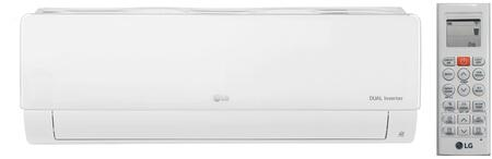 LG  LSN090HSV5 Mini Split Indoor Unit White, Front View with  Remote Controller