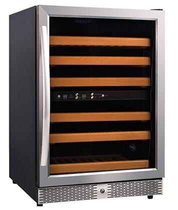 MH54DZ Single Section Wine Cooler With  Dual Zone Temperature and 46 Botteles -  Eurodib