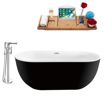 Streamline NH801120 Bath Tub Black, NH801 120 1T