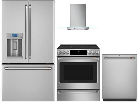 Cafe  1054665 Kitchen Appliance Package Stainless Steel, main image