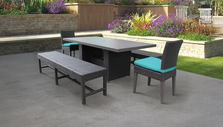 TK Classics BELLEDTRECKIT2C2BCARUBA Outdoor Patio Set, BELLE DTREC KIT 2C2B C ARUBA