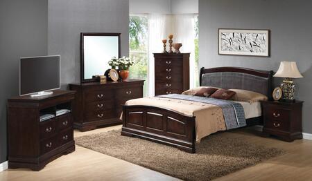 Glory Furniture G3125 G3125CKB2BDMNCMC Bedroom Set Brown, Main View