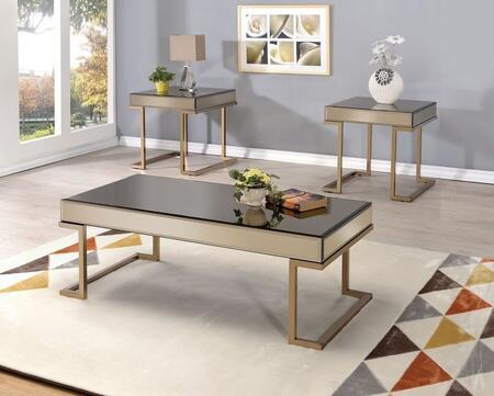 Acme Furniture Boice 81635SET Living Room Table Set Gold, 3 PC Set