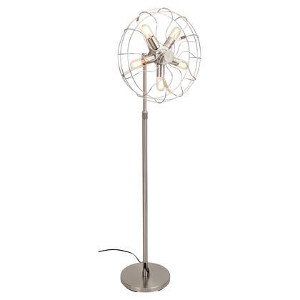 LumiSource Ozzy LSLOSCFLRNI Floor Lamp Silver, Main
