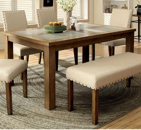 Furniture of America Melston I CM3531T Dining Room Table Multi Colored, Without Chairs