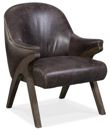 Hooker Furniture CC Series CC580097 Accent Chair Black, Silo Image