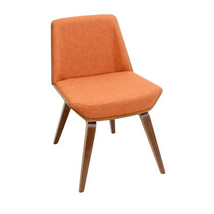 LumiSource Corazza CHCRZZWLO Dining Room Chair Orange, CH-CRZZWL+O Front