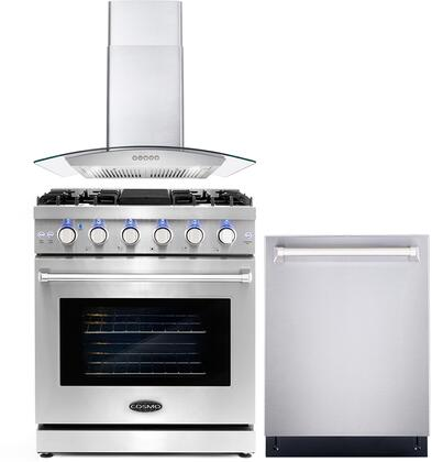 Cosmo  COS3PKG018 Kitchen Appliance Package Stainless Steel, COS 3PKG 018