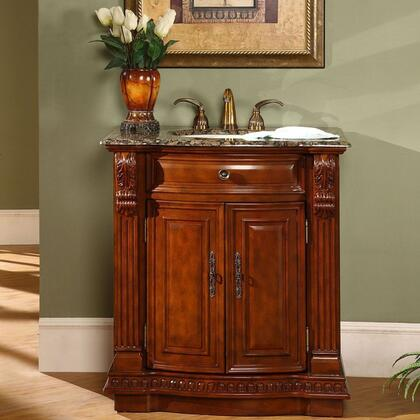 Silkroad Exclusive Charlotte HYP0206BBUIC33 Sink Vanity Brown, 1