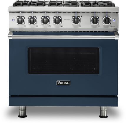 Viking 5 Series VGR5366BSB Freestanding Gas Range Blue, VGR5366BSB Gas Range